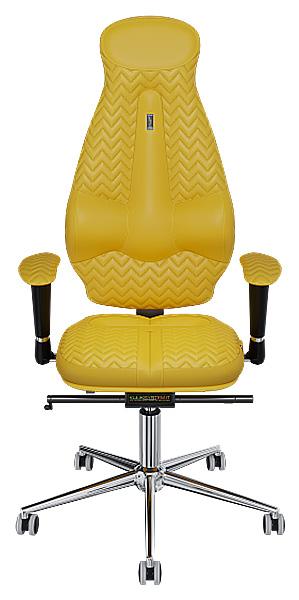 """Офисное кресло Kulik System Galaxy, экокожа, Желтый, индивидуальная прошивка """"Zeta"""""""