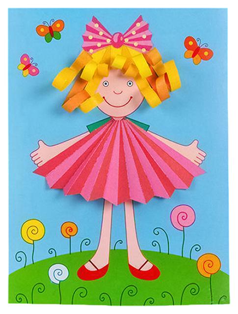Купить Аппликация Дрофа-Медиа Куколка, Детские аппликации