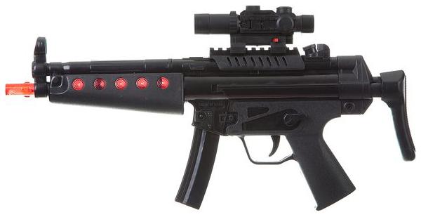 Купить Огнестрельное игрушечное оружие BK Toys ltd Автомат-трещотка с прицелом, Стрелковое игрушечное оружие
