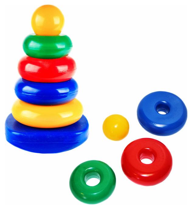 Купить Развивающая игрушка Счастливое детство Пирамидка-качалка Квадрат, Пирамидки для детей