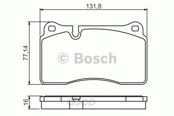 Тормозные колодки дисковые Bosch 0986494207
