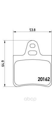 Тормозные колодки дисковые brembo P61037