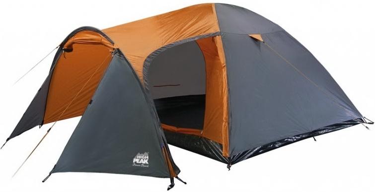 Палатка High Peak Kira трехместная серая/оранжевая