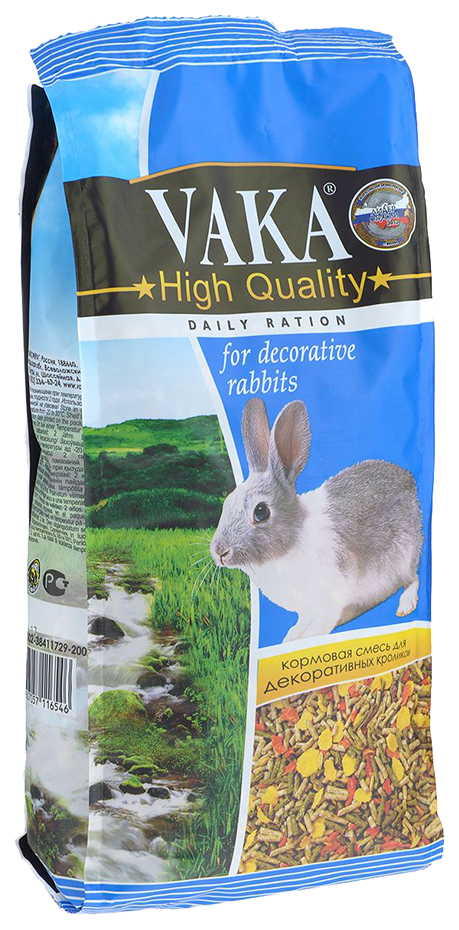 Корм для кроликов Вака High Quality 1 кг 1 шт