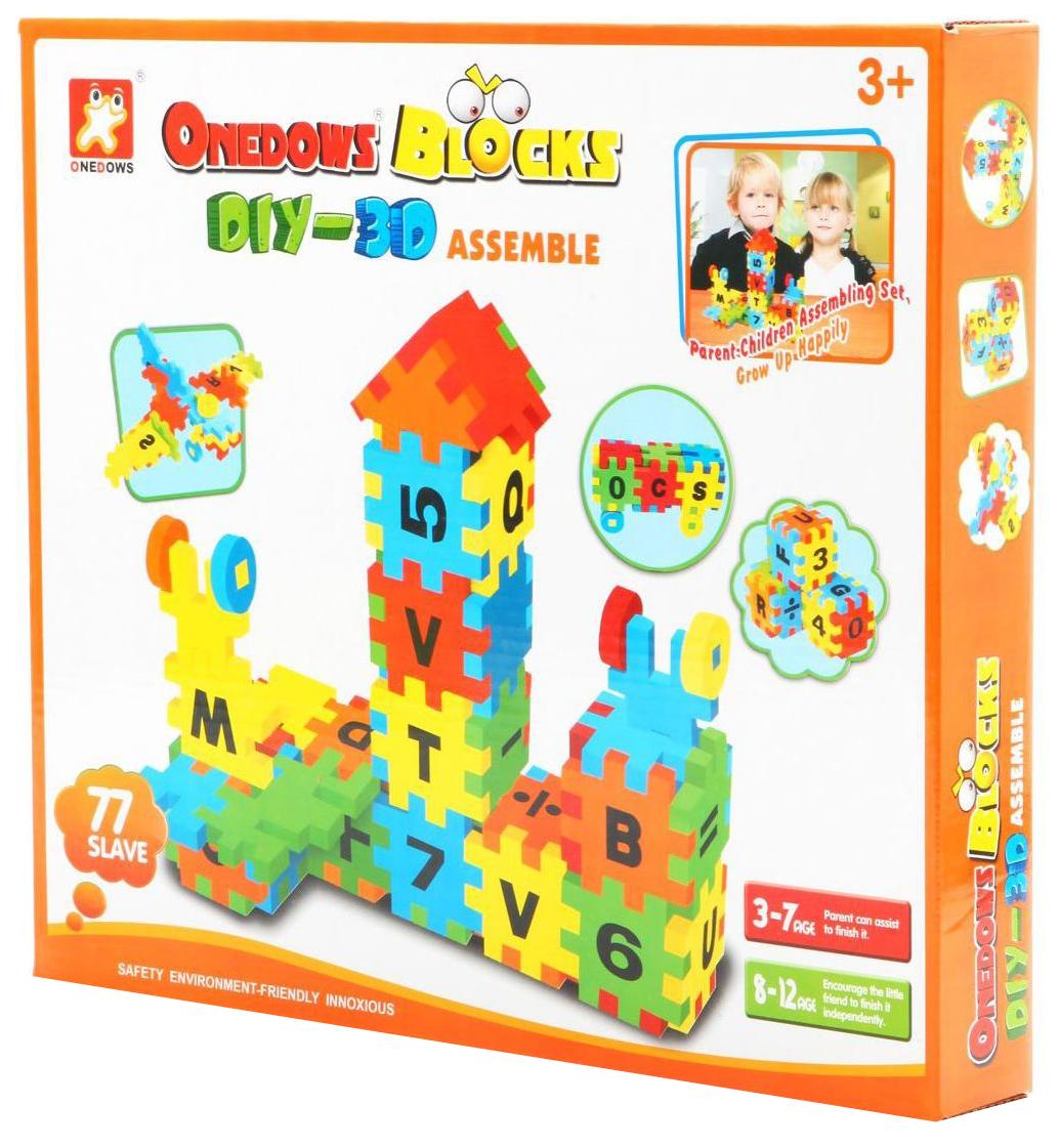 Купить Мягкий конструктор Shenzhen toys onedows blocks 77 деталей Г40507, Мягкие конструкторы