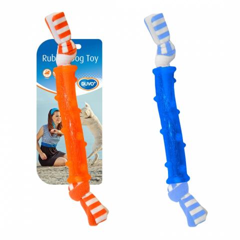 Жевательная игрушка для собак Duvo+ Палочка с веревкой, в ассортименте, длина 15 см