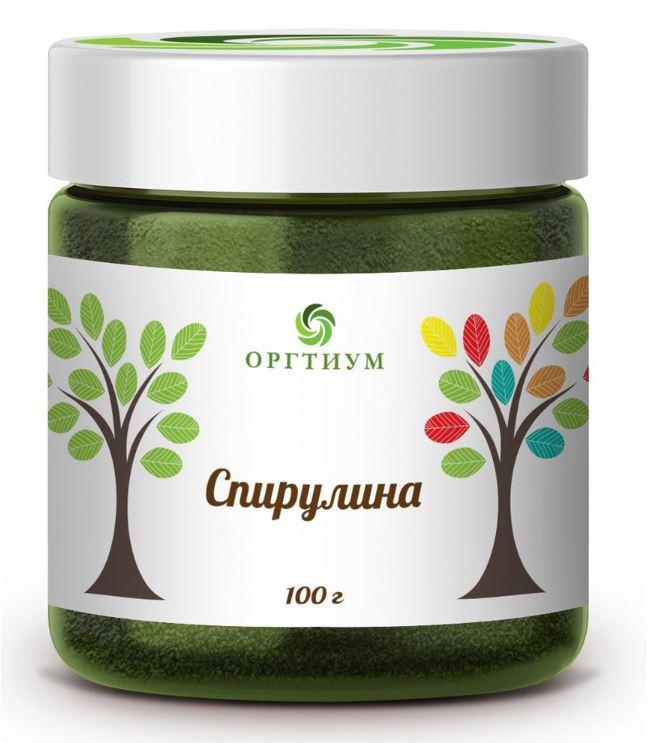 Спирулина Оргтиум БИО 100 г фото