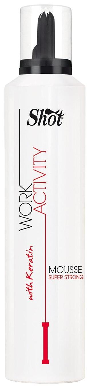 Мусс для волос Shot Work Activity Mousse Super Strong 300 мл