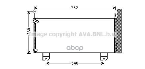 Радиатор кондиционера Ava TO5660D
