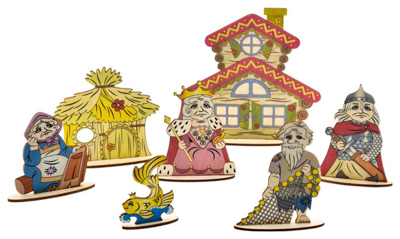 Купить Кукольный театр Большой слон Сказки на столе Золотая рыбка,