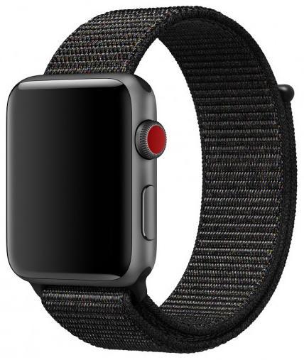 Ремешок COTEetCI W17 Magic Tape (WH5225-BK) для Apple Watch Series 2/3/4 38/40mm (Black)