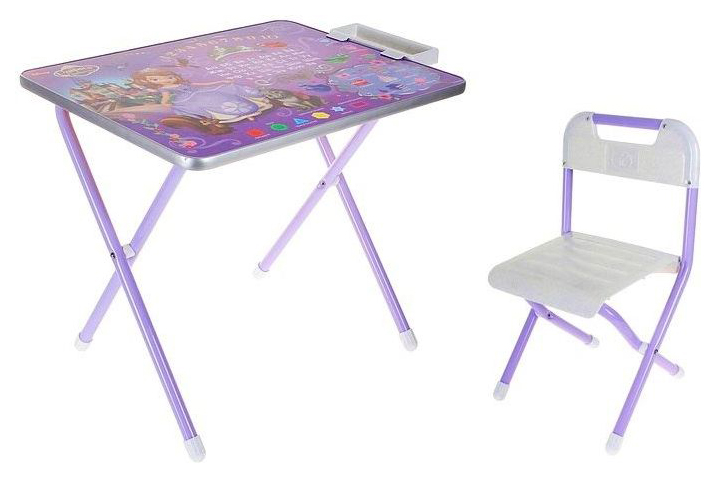 Купить Комплект детской мебели Дэми №1 София Прекрасная Стол+стул Фиолетовый,