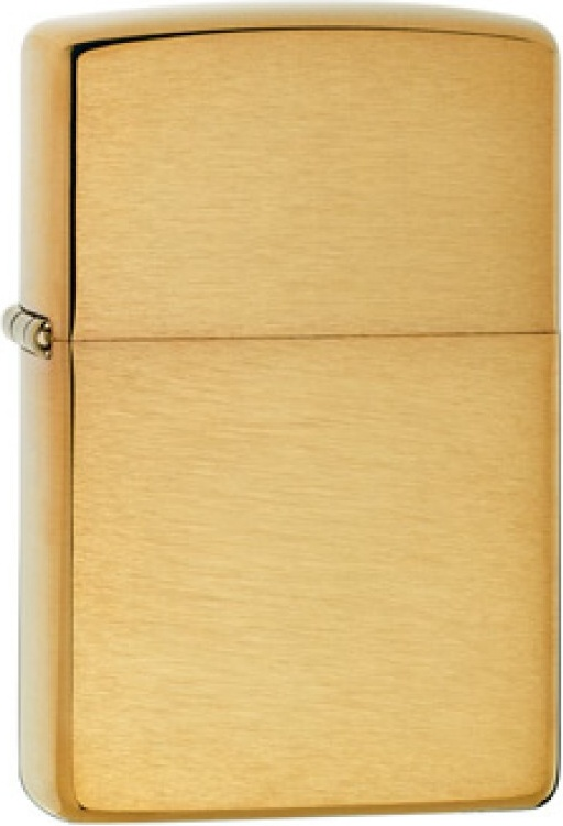 Бензиновая зажигалка Zippo №168 Brushed Brass