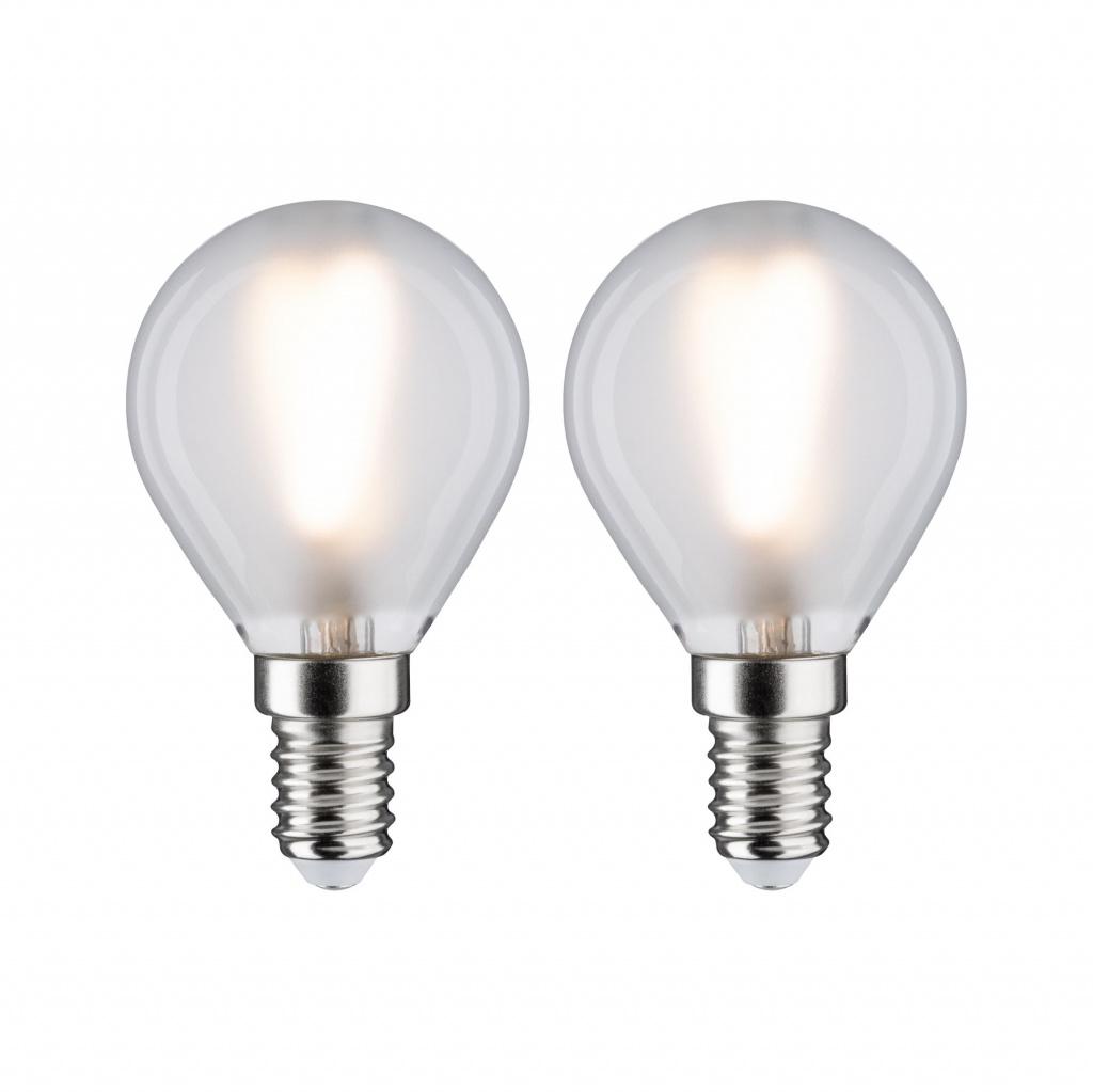 LED Fil 2er Tropfen 250lm E14 matt
