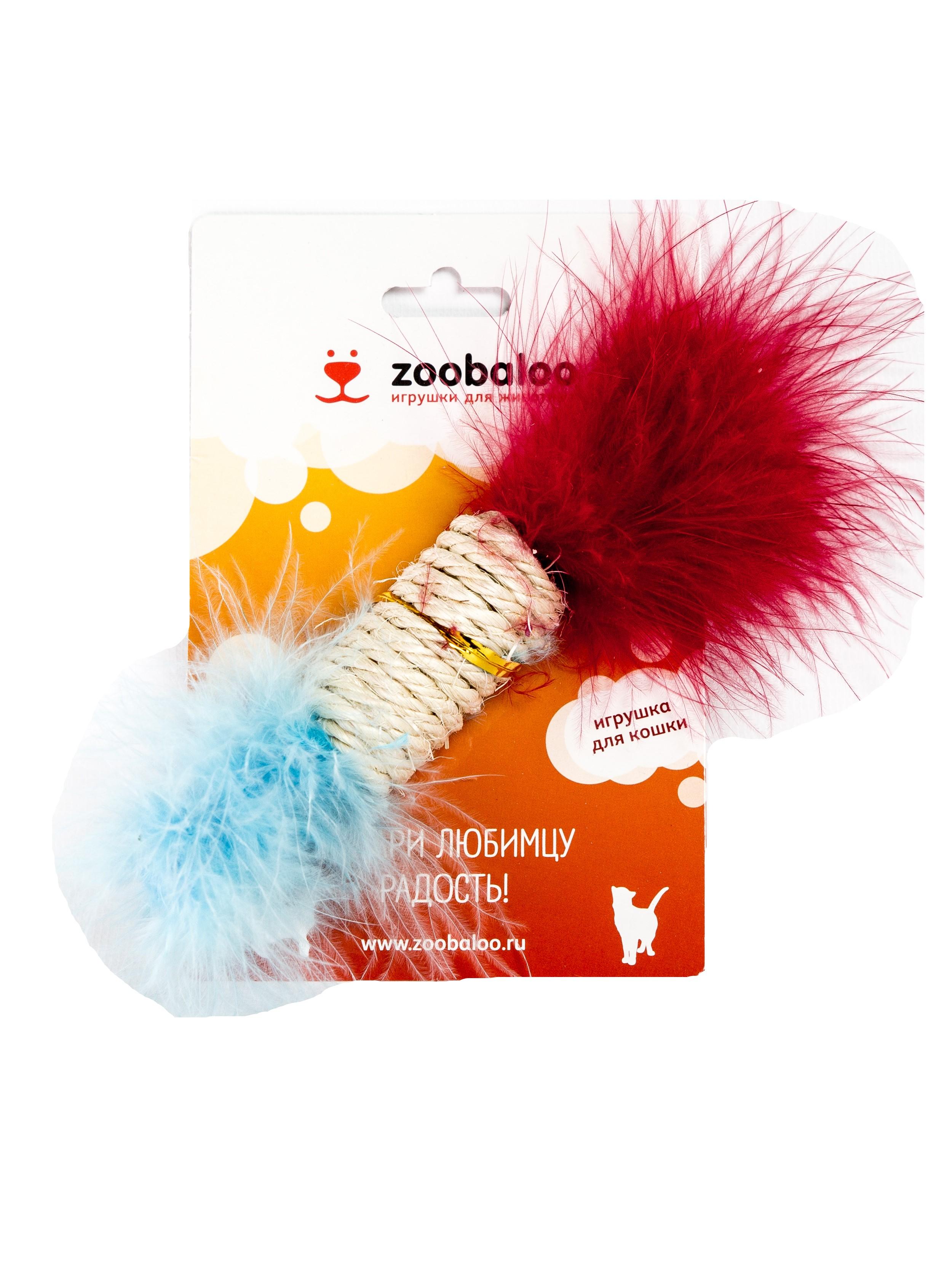 Когтеточка для кошек сизалевая Zoobaloo цилиндр