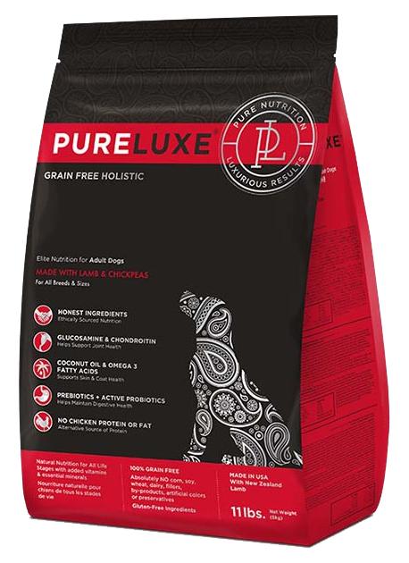 Сухой корм для собак PureLuxe GF Holistic Для городских питомцев, ягненок, 10.89кг фото
