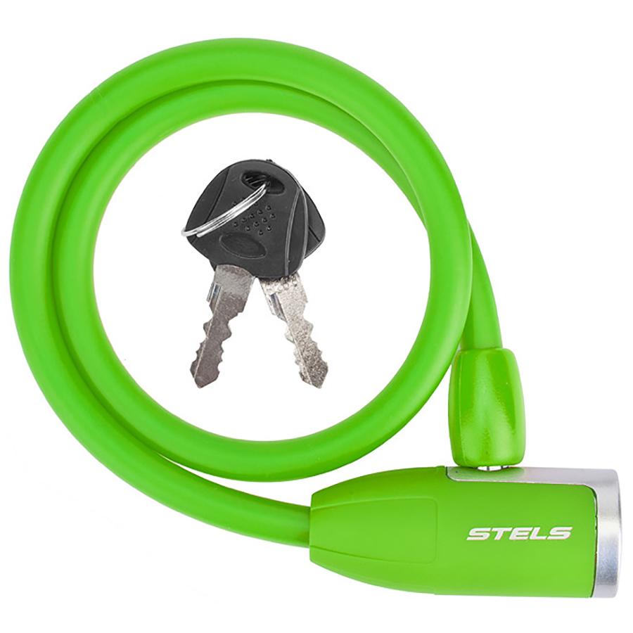 Трос-замок 84356 (650мм) d 10mm, Зеленый