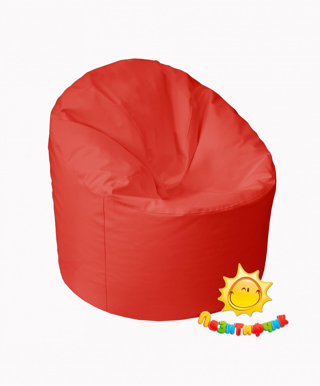 Кресло-мешок Pazitif Пенек Пазитифчик, размер L, экокожа, красный фото