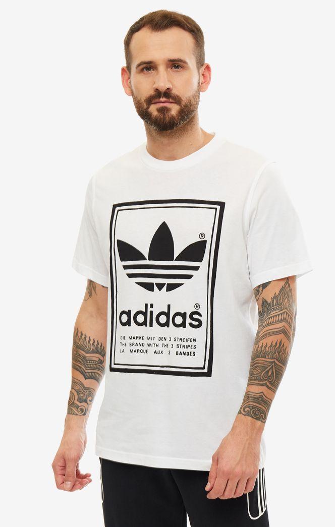 Футболка мужская adidas Originals ED6916 белая/черная XL