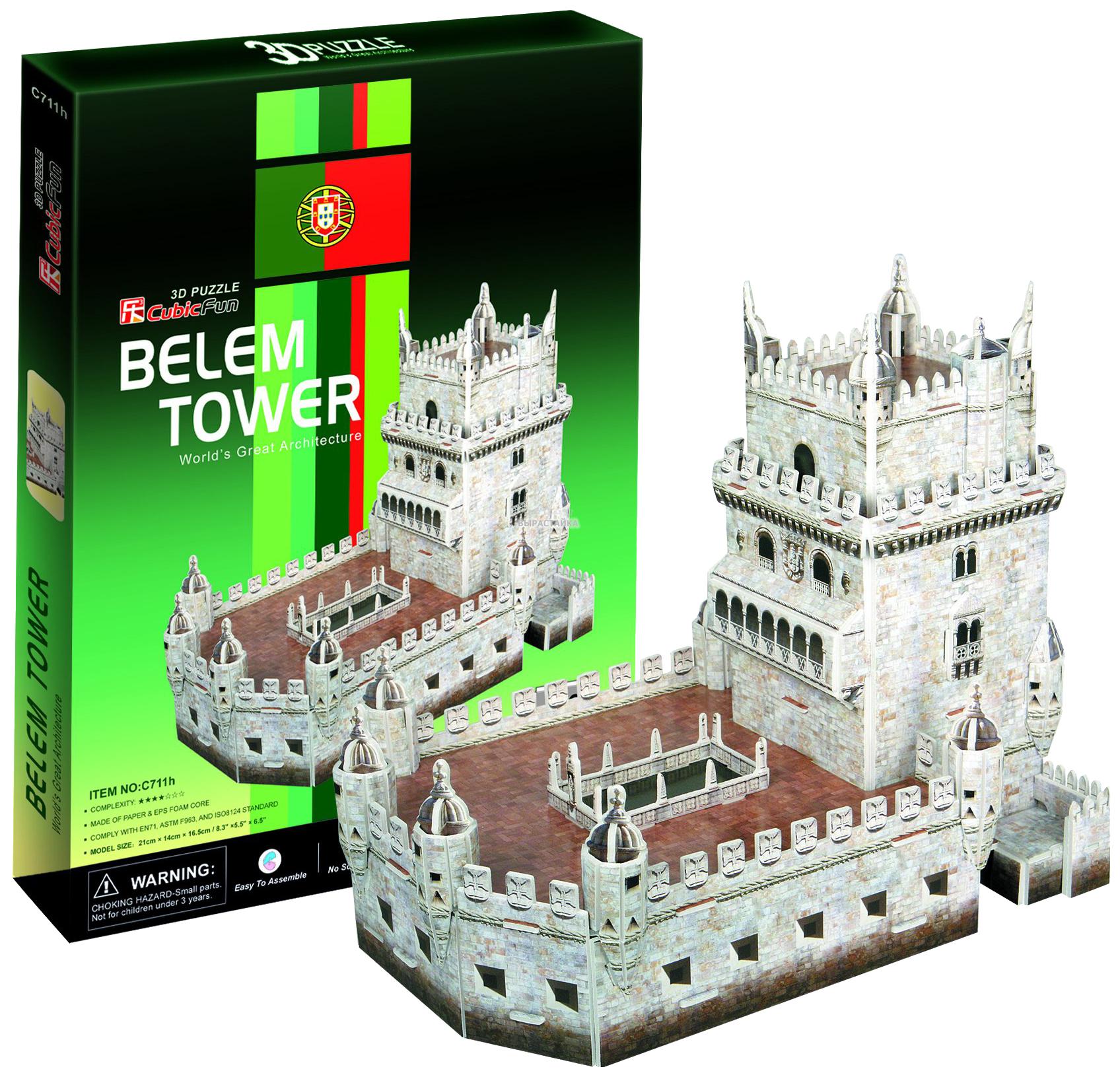 Купить Пазл Cubic Fun 3D C711h Кубик фан Башня Белен (Португалия), CubicFun, Пазлы