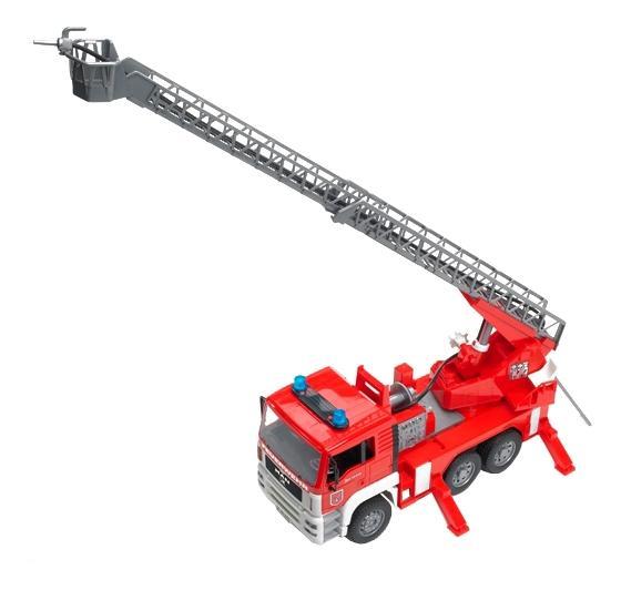 Купить Пожарная машина MAN, Пожарная машина Bruder MAN с лестницей и помпой с модулем, Игрушечный транспорт Bruder