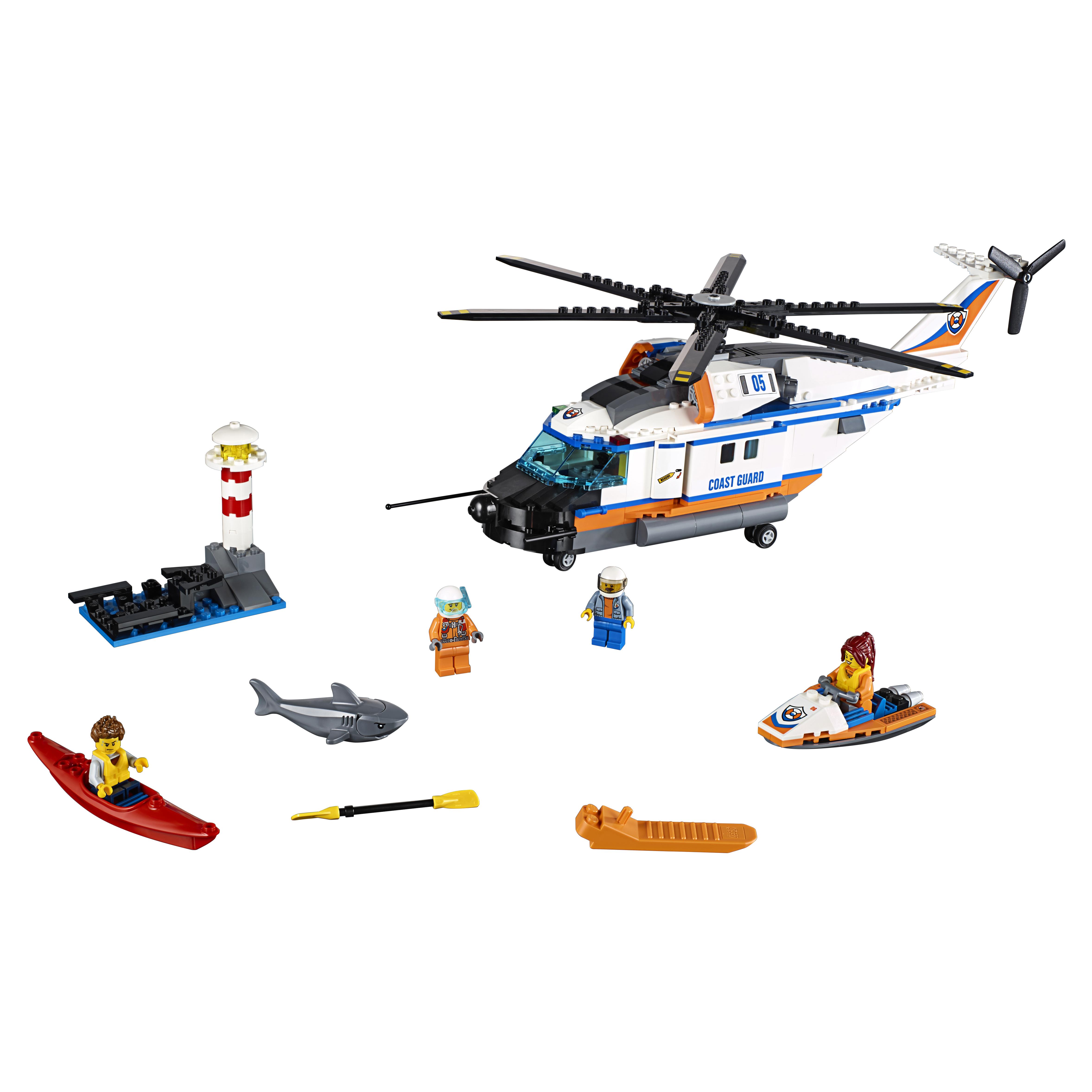 Купить Конструктор lego city coast guard сверхмощный спасательный вертолёт 60166, Конструктор LEGO City Coast Guard Сверхмощный спасательный вертолёт (60166)