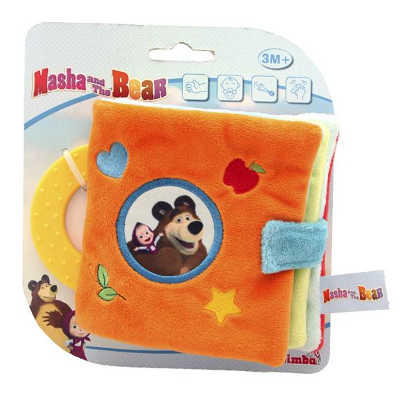 Купить Плюшевая книжечка Маша и Медведь, 0 24, Masha and the Bear, Книги по обучению и развитию детей