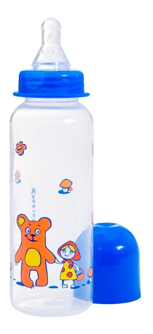 Бутылочка полипропиленовая с силиконовой соской, 240 мл.