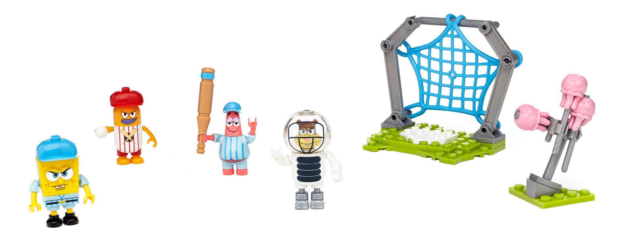Купить Игровой набор Mega Bloks® Губка боб мини игровые наборы DLB16 DLB17, Mattel, Игровые наборы