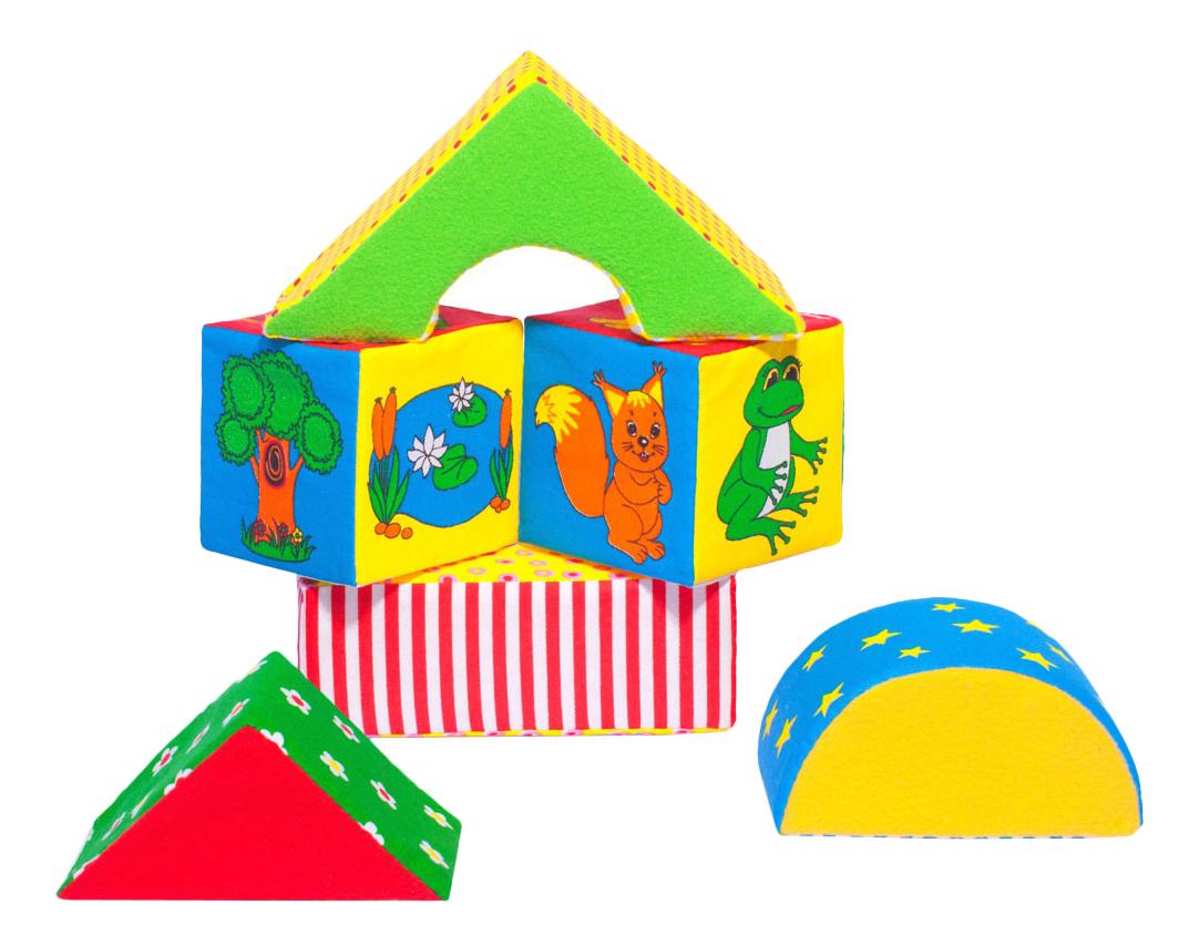 Детские кубики Мякиши Домики 54