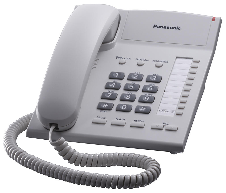 Проводной телефон Panasonic KX TS2382RUW белый