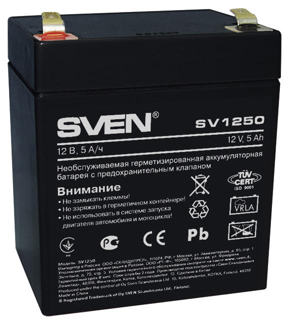 Аккумулятор для ИБП Sven SV1250 12B/5A