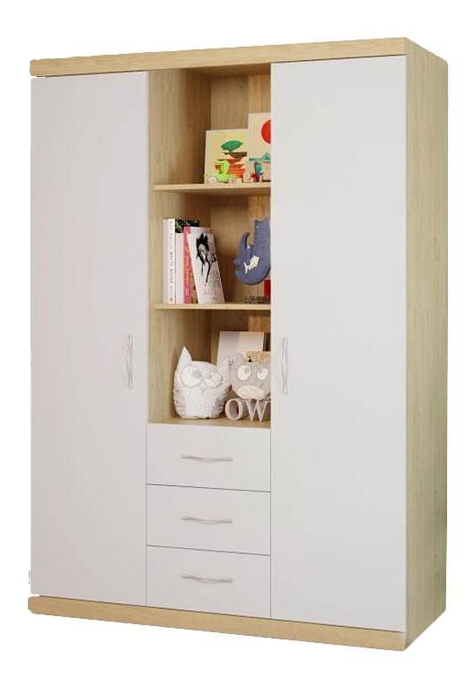 Купить Шкаф детский Polini Classic дуб/белый глянец, Шкафы в детскую комнату