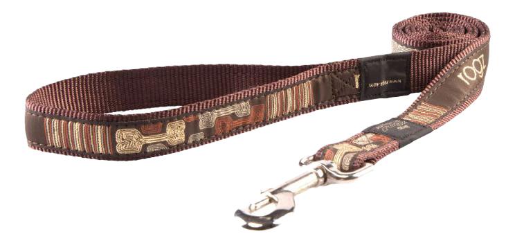 Поводок для собак Rogz Fancy Dress XL-25мм 1,2 м (Кости на черном HL02CE)