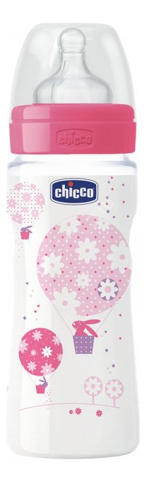 Детская бутылочка Chicco Well Being Girl
