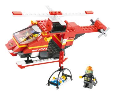 Конструктор пластиковый Sluban Пожарные Спасатели 155 Дет