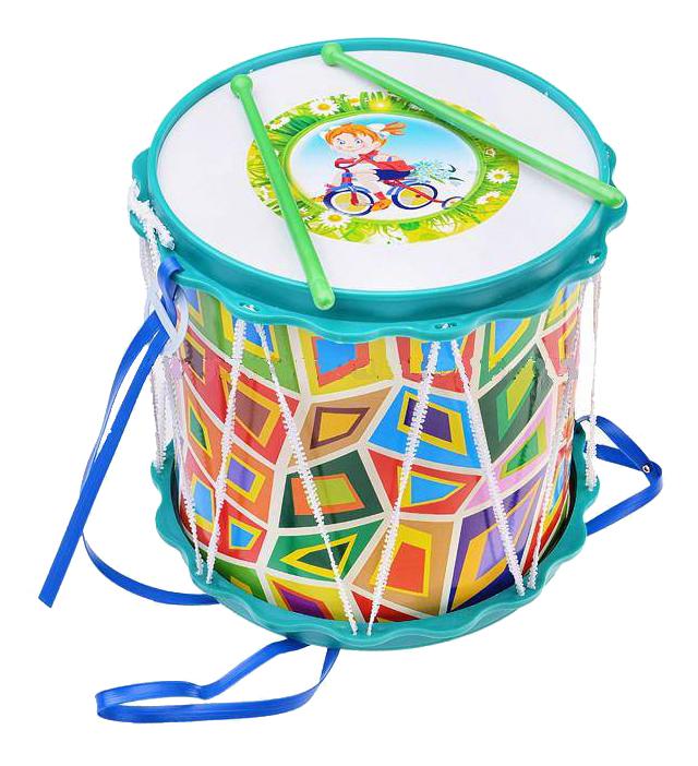 Купить Барабан игрушечный ТулИгрушка Барабан Походный с аппликацией, Детские музыкальные инструменты