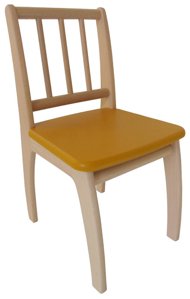 Купить Стул детский игровой Geuther Bambino Натуральный/Желтый, Детские стульчики