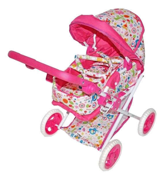 Коляска для куклы Наша игрушка Mary Poppins Фантазия малиновая