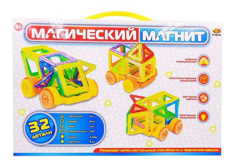 Купить Конструктор магнитный ABtoys Магический магнит 32 детали, Магнитные конструкторы