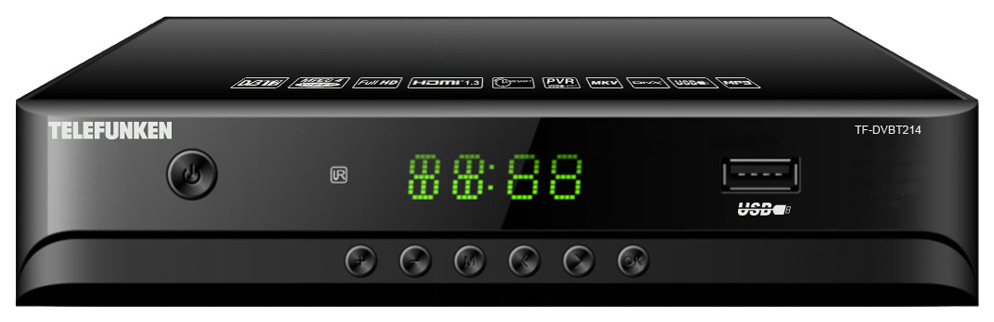 DVB-T2 приставка Telefunken TF-DVBT214 Black