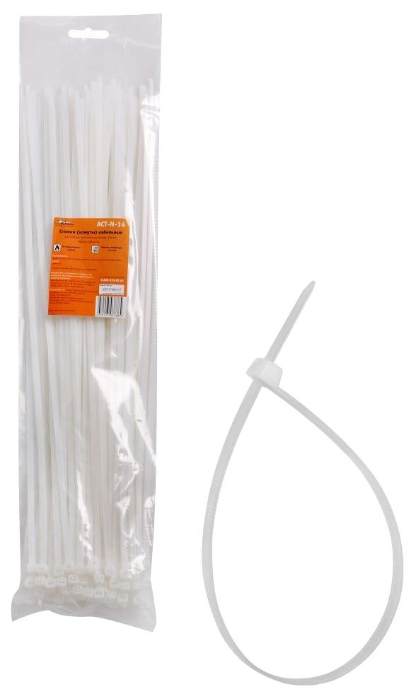 Стяжки (хомуты) AIRLINE кабельные 4,8*400 мм, пластиковые, белые, 100 шт.