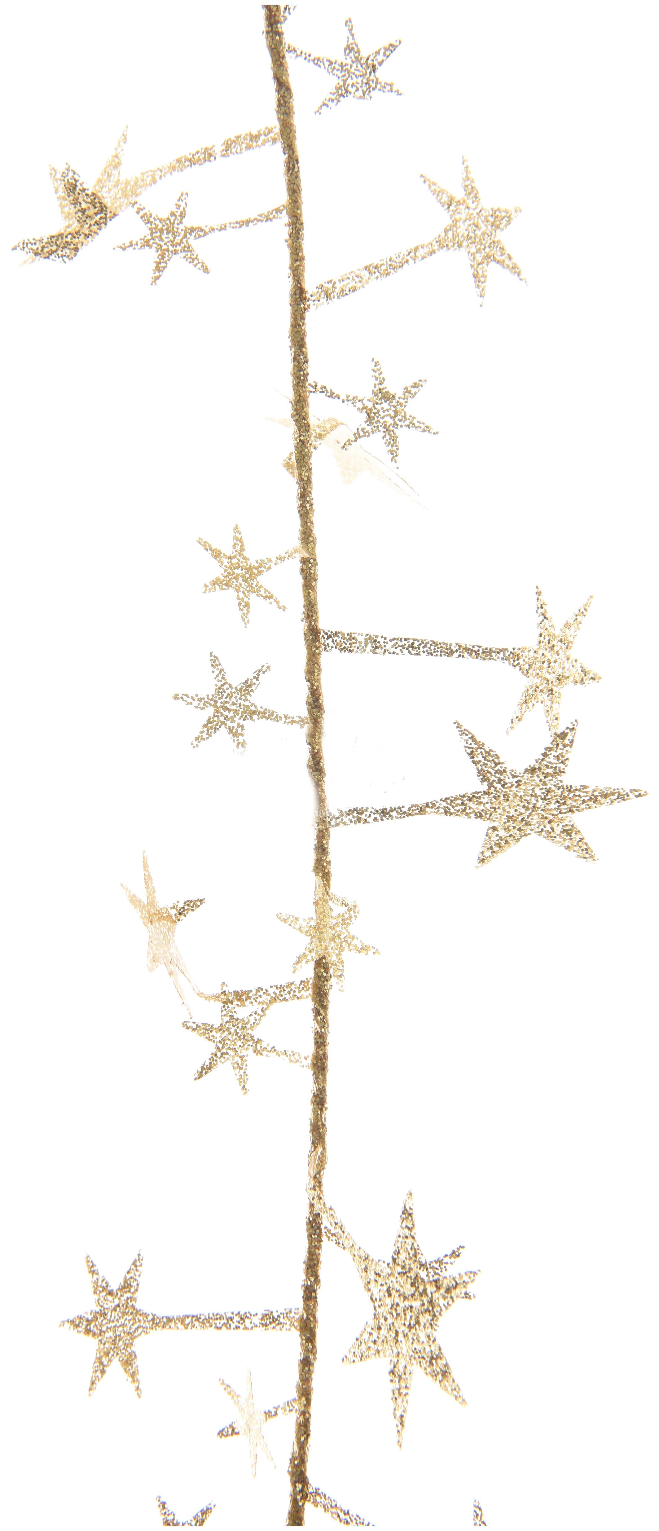 Мишура Kaemingk Искристые Звездочки 435085 Золотистый
