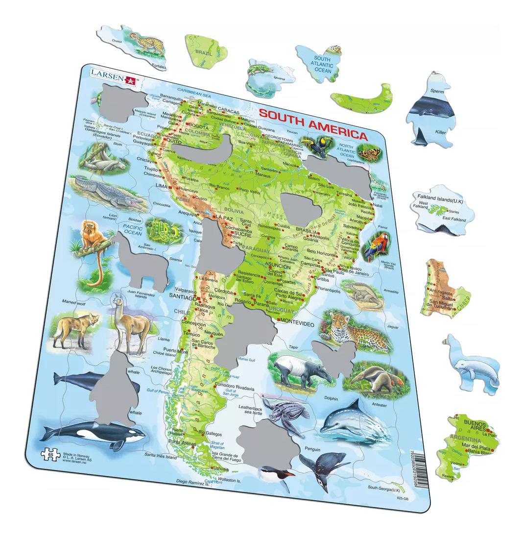 Купить Пазл Larsen Животные Южной Америки, Пазлы