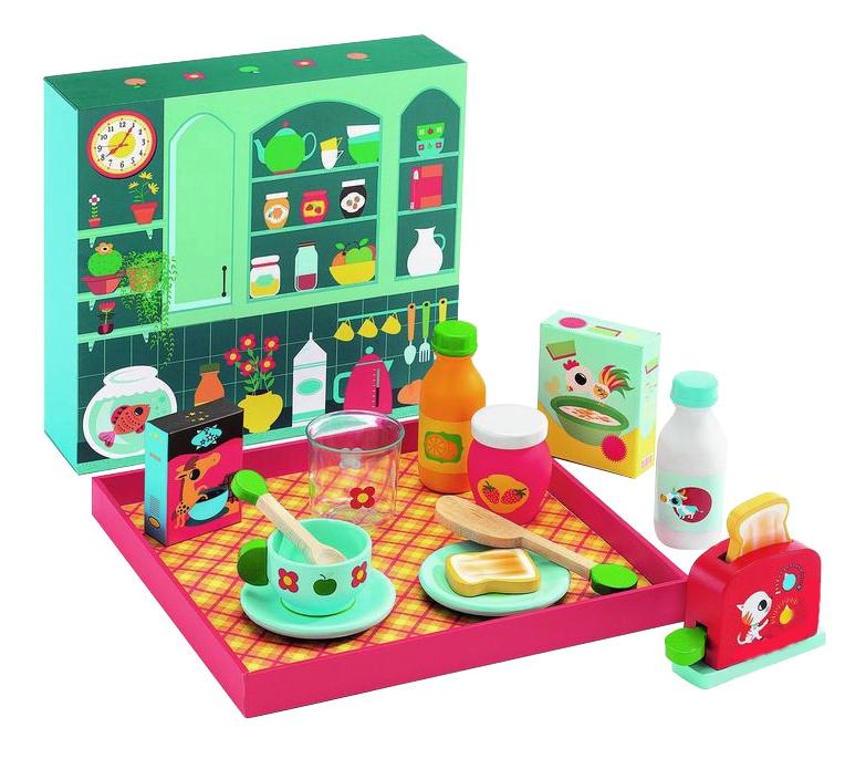 Набор продуктов игрушечный Djeco Время завтрака 06619