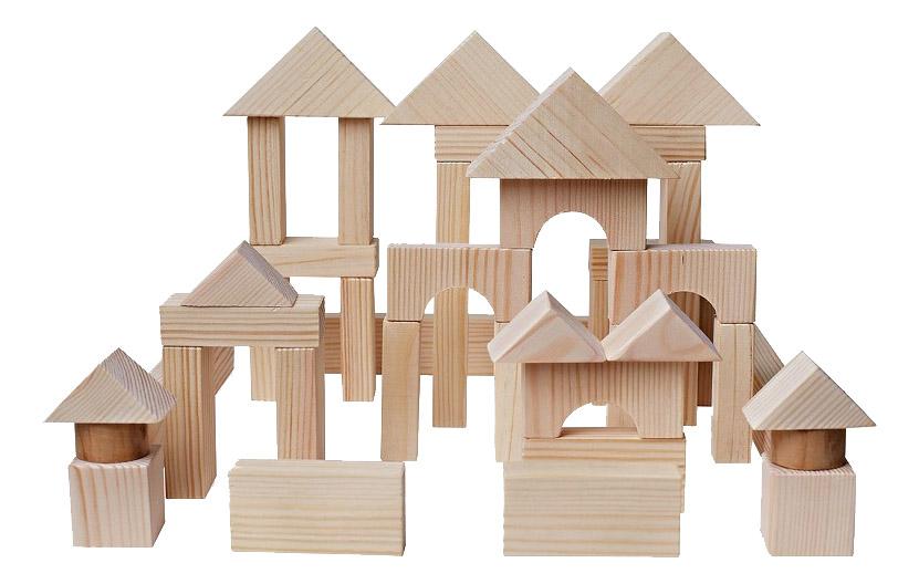 Купить Деревянный конструктор Paremo 51 деталь неокрашенный PE117-6, Деревянные конструкторы