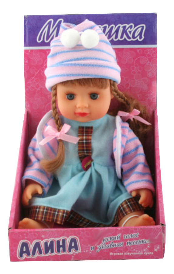 Купить Малышка алина с косичками в шапочке, Кукла Play Smart Малышка Алина с косичками в шапочке Д22428 22 см, PLAYSMART, Интерактивные куклы