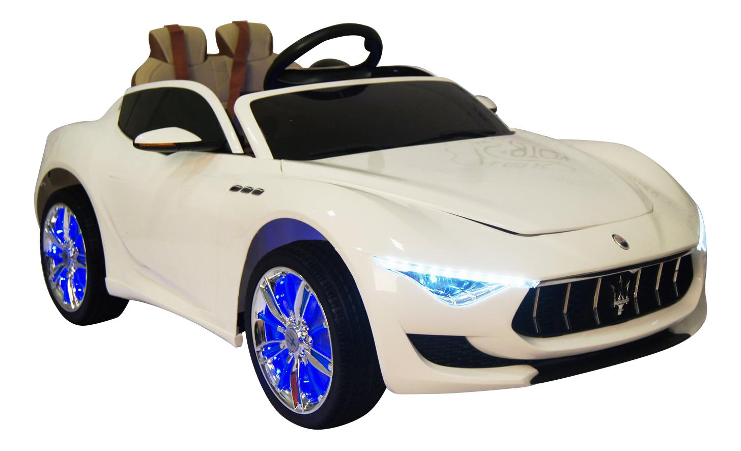 Электромобиль Maserati белый RIVERTOYS