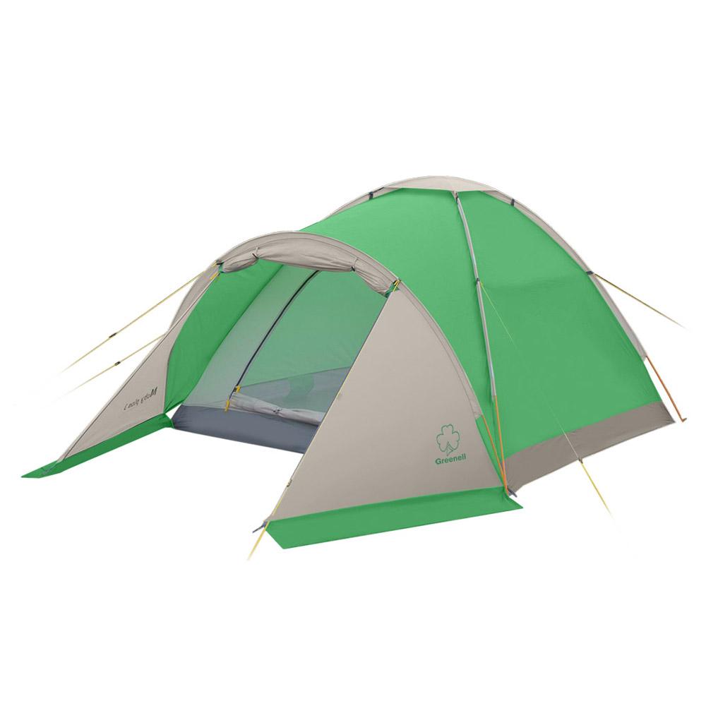 Палатка Greenell Моби Плюс двухместная зеленая/серая
