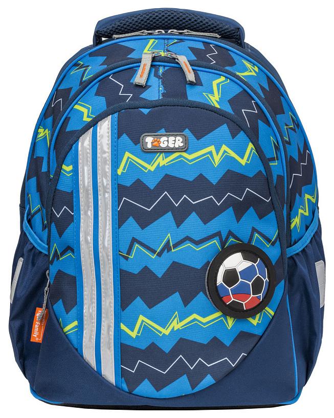 Купить Zigzag синий, Рюкзак Tiger Enterprise Champ Series Collection Zigzag Синий, Школьные рюкзаки для мальчиков
